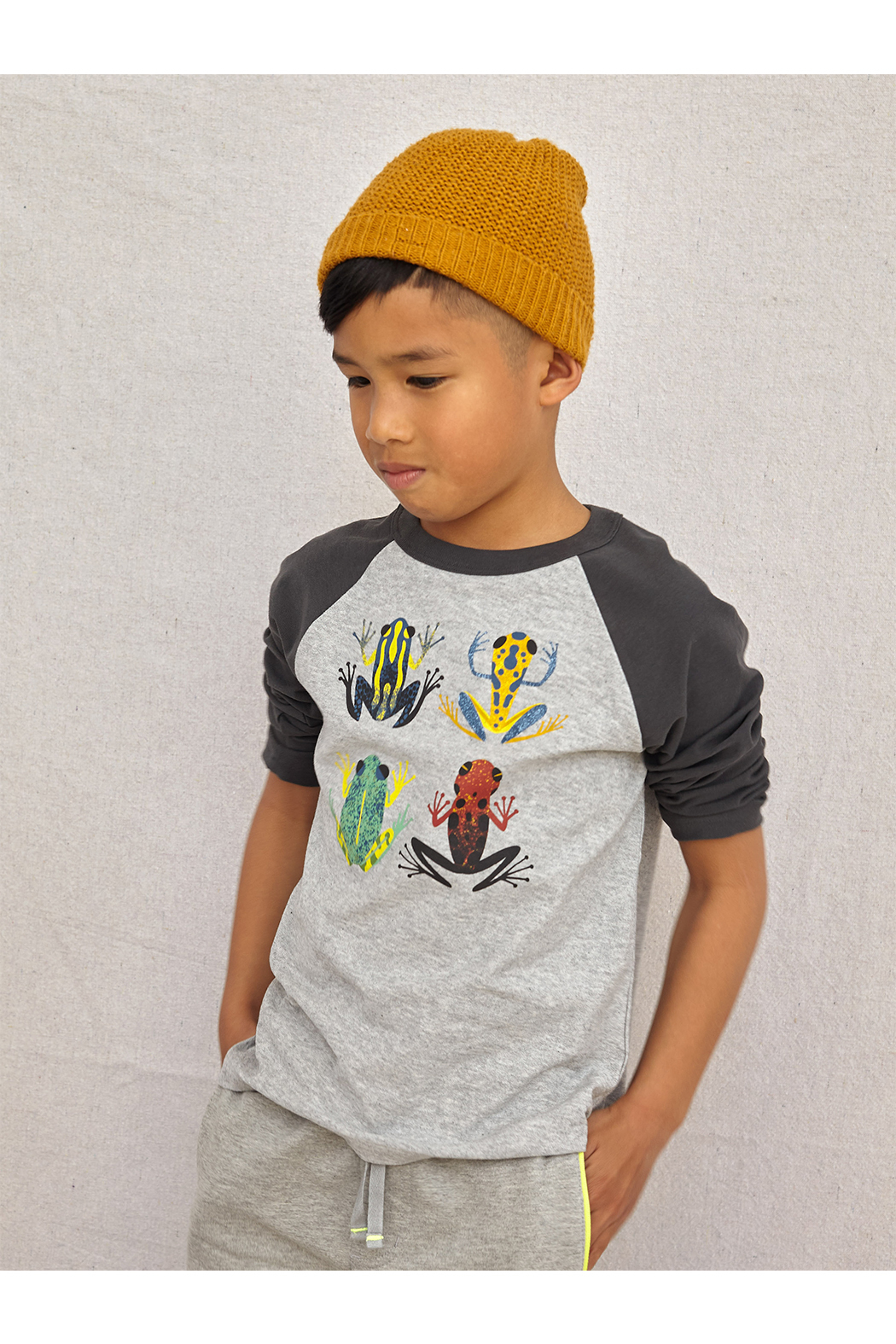 Tea Collection Cloud Forest Frogs Raglan Tee - Back Cropped Image