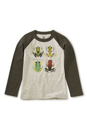 Tea Collection Cloud Forest Frogs Raglan Tee - Front cropped