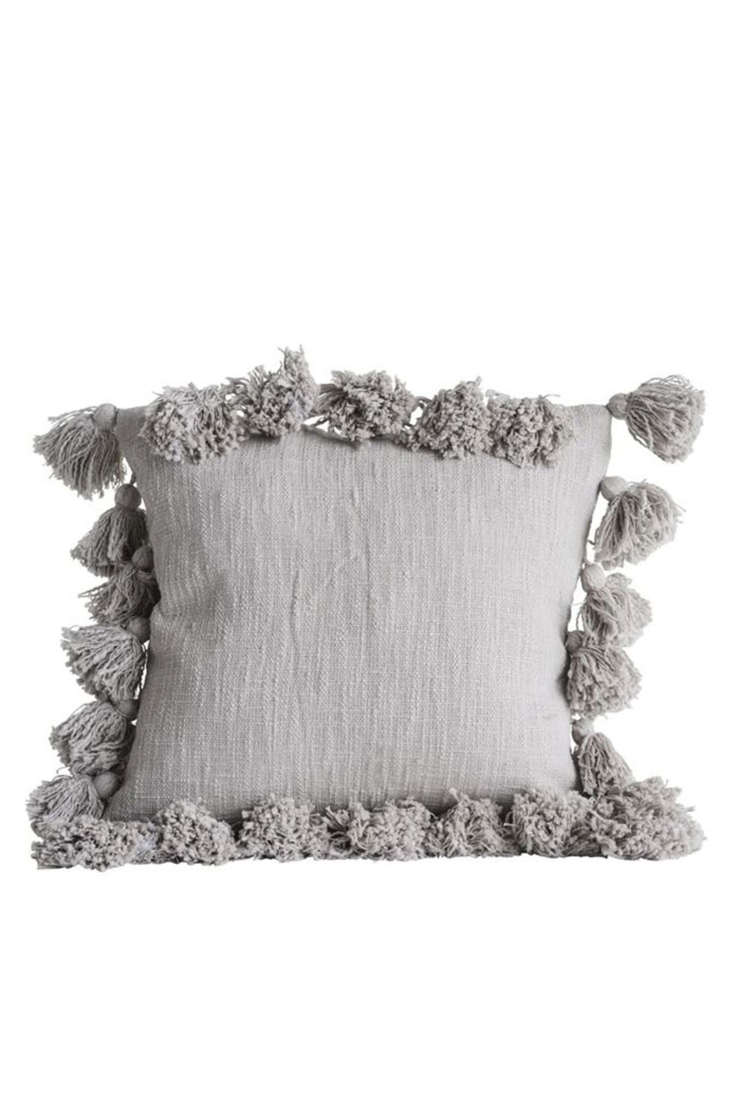 Creative Co-Op Cloud Grey Pillow - Front Full Image