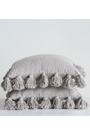Creative Co-Op Cloud Grey Pillow - Front cropped