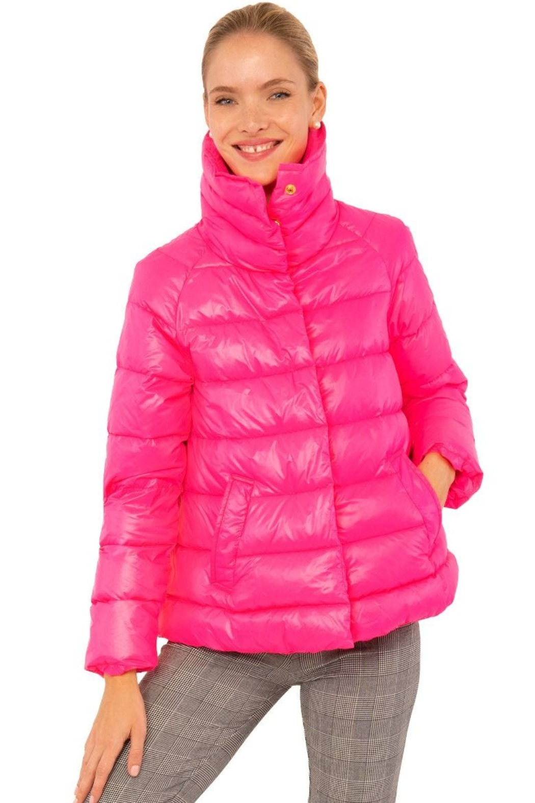 Gretchen Scott  Cloud nine quilted swing jacket - Front Cropped Image