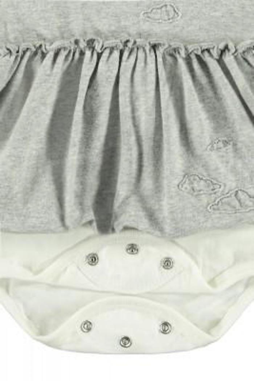 Belly Button Cloud Onesie Dress - Side Cropped Image