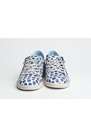 Cloud Print Leather Sneaker - Back cropped