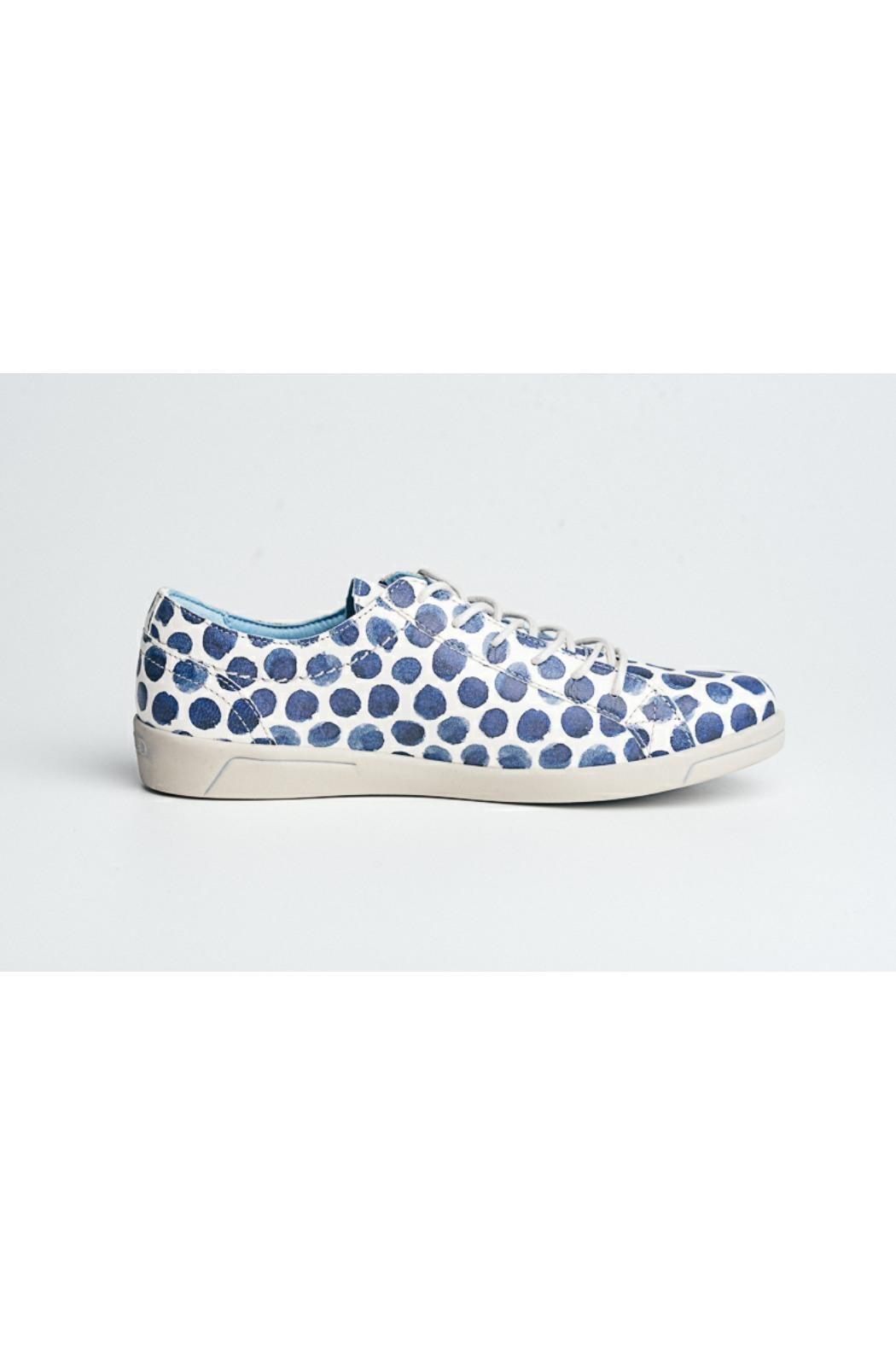 Cloud Print Leather Sneaker - Side Cropped Image