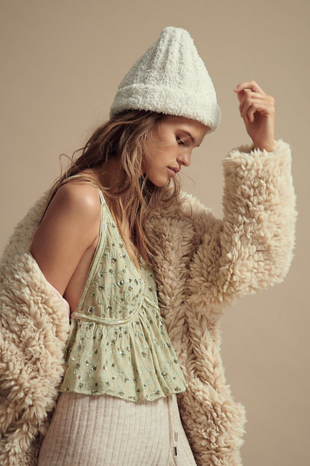 Free People  Cloud Rib Beanie - Front Cropped Image