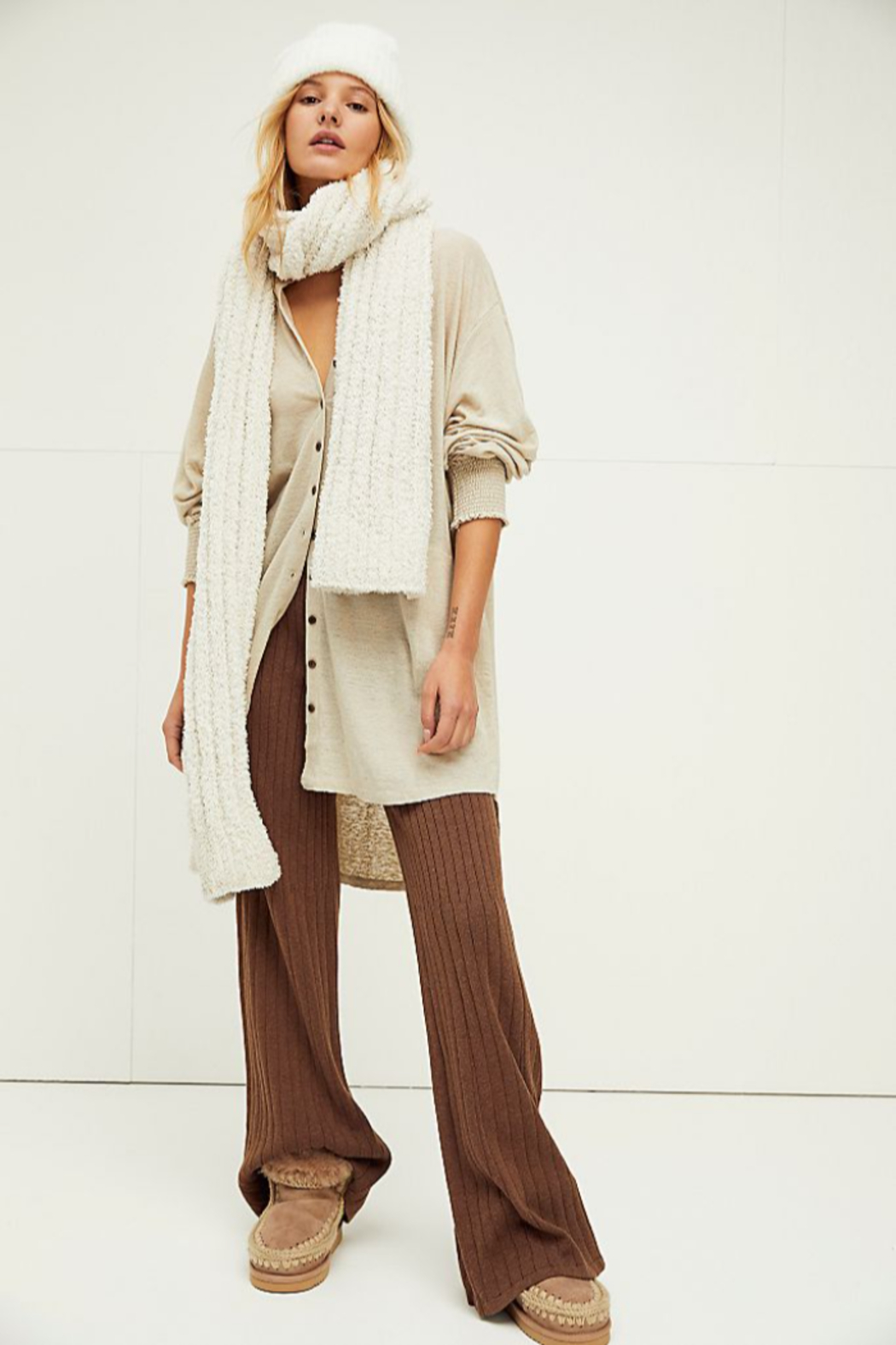 Free People Cloud Rib Blanket Scarf - Front Cropped Image