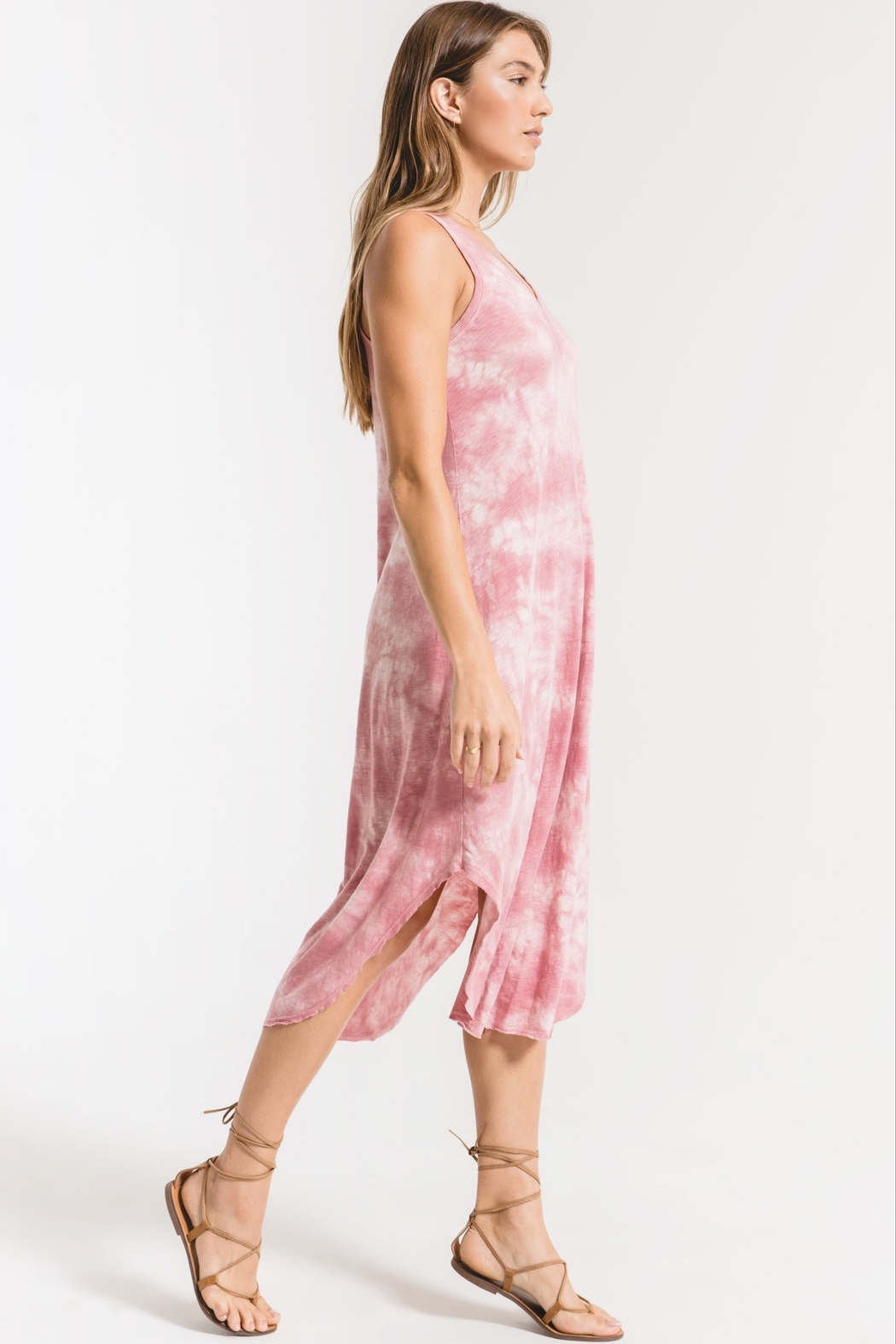 z supply Cloud Tie Dye Maxi Dress - Front Full Image