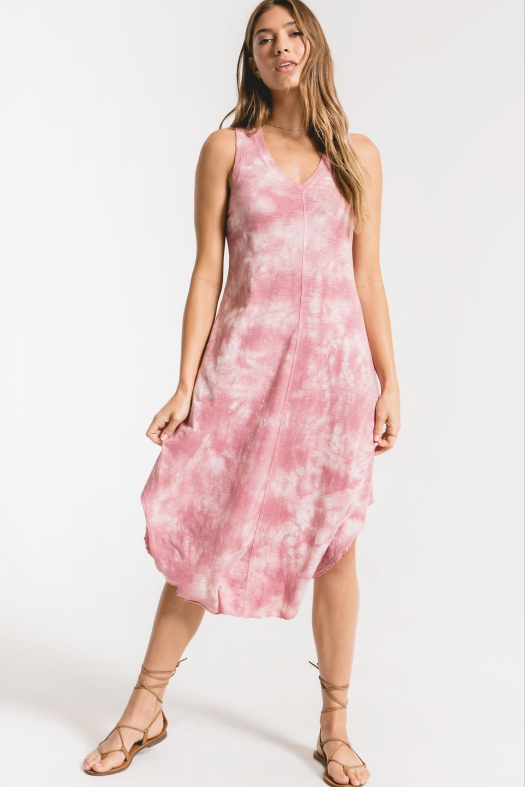 z supply Cloud Tie Dye Maxi Dress - Main Image