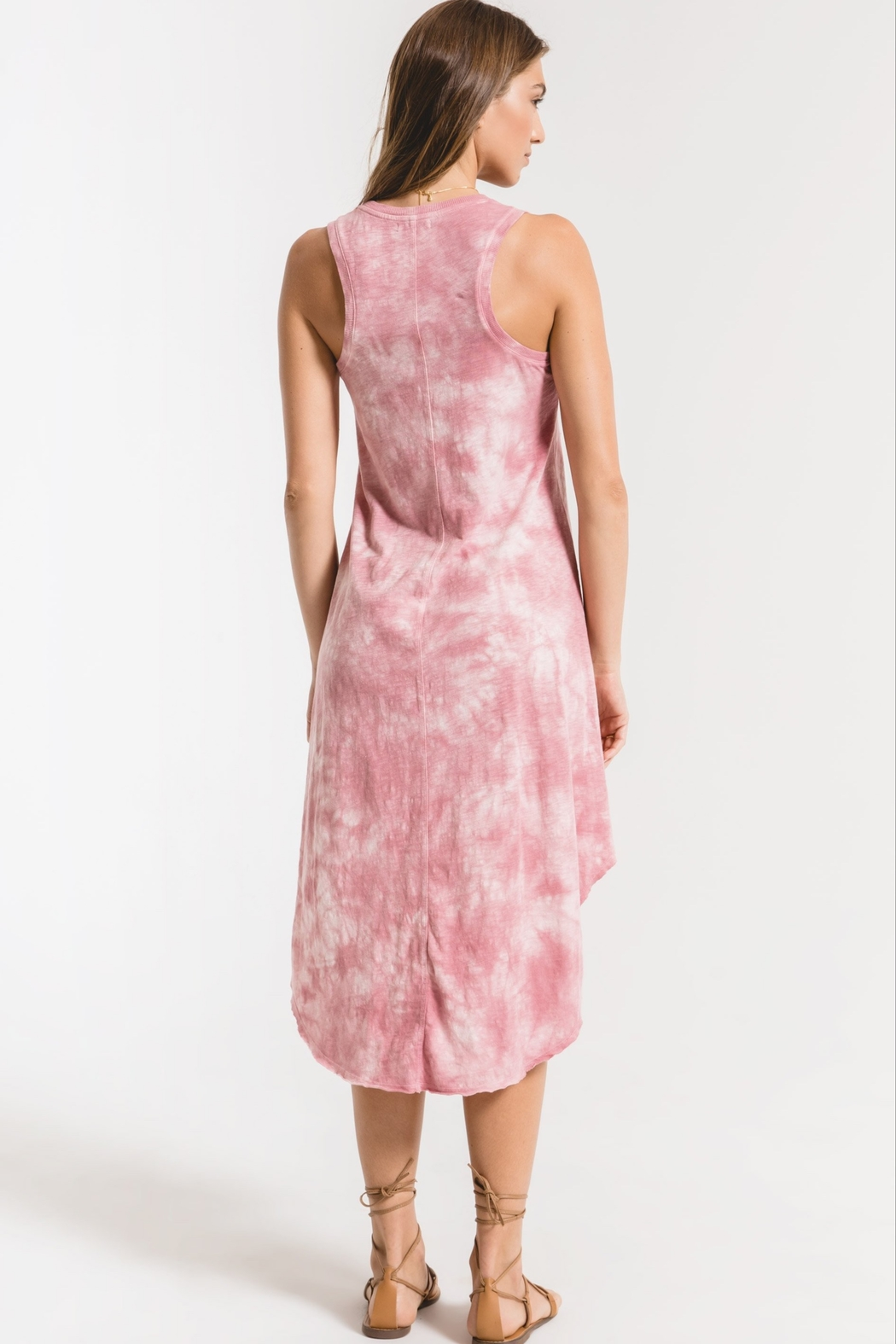 z supply Cloud Tie Dye Maxi Dress - Side Cropped Image
