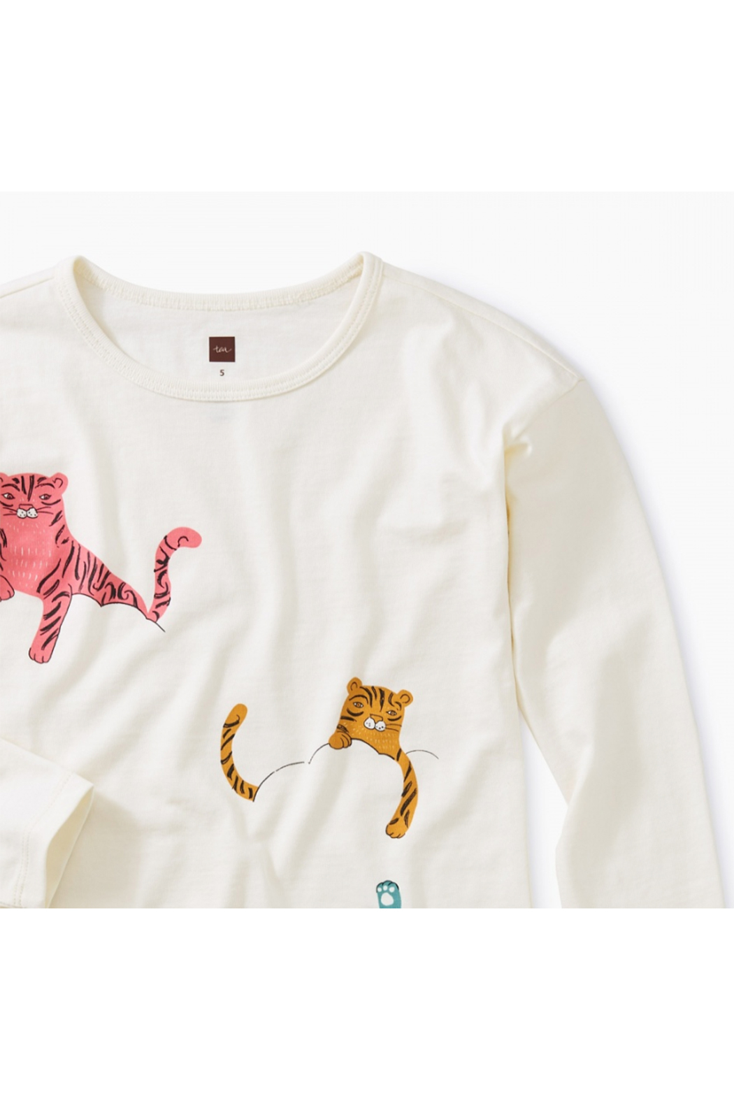 Tea Collection Cloud Tigers Graphic Tunic - Front Full Image
