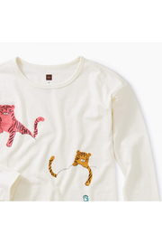 Tea Collection Cloud Tigers Graphic Tunic - Front full body