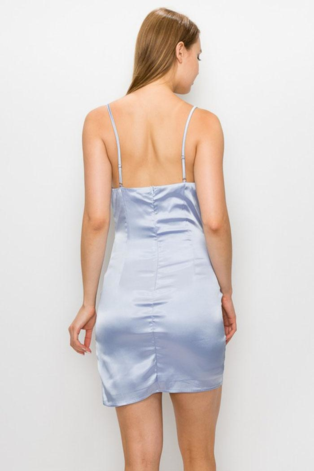 Cloud Ten Satin Cowlneck Dress - Side Cropped Image