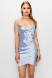 Cloud Ten Satin Cowlneck Dress - Front cropped