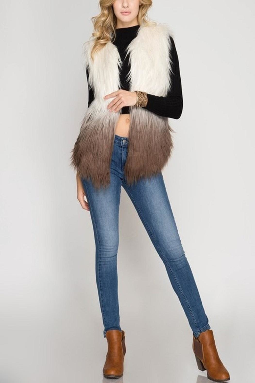 Cloudwalk Faux Fur Ombre - Front Full Image