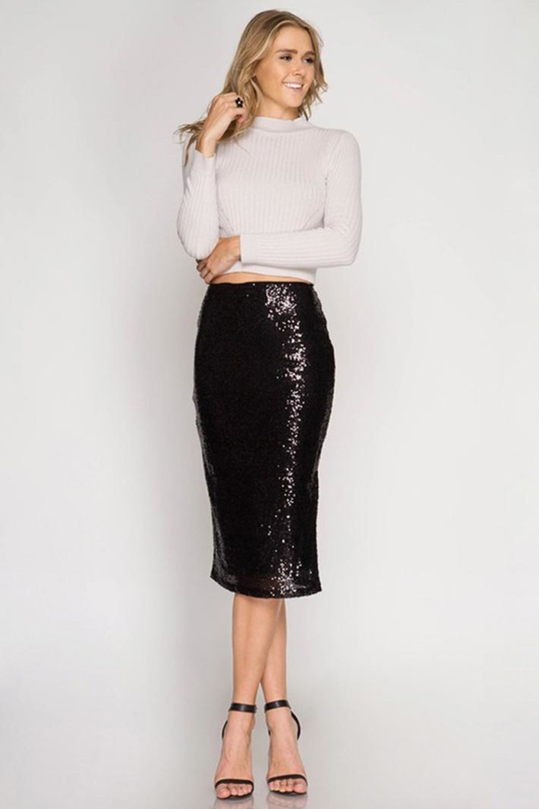 Cloudwalk Sequin Pencil Skirt - Main Image