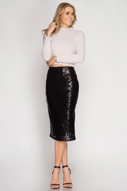 Cloudwalk Sequin Pencil Skirt - Product Mini Image