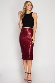Cloudwalk Sequin Pencil Skirt - Front cropped