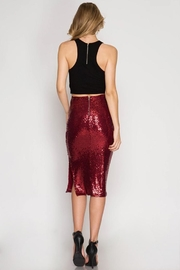 Cloudwalk Sequin Pencil Skirt - Front full body