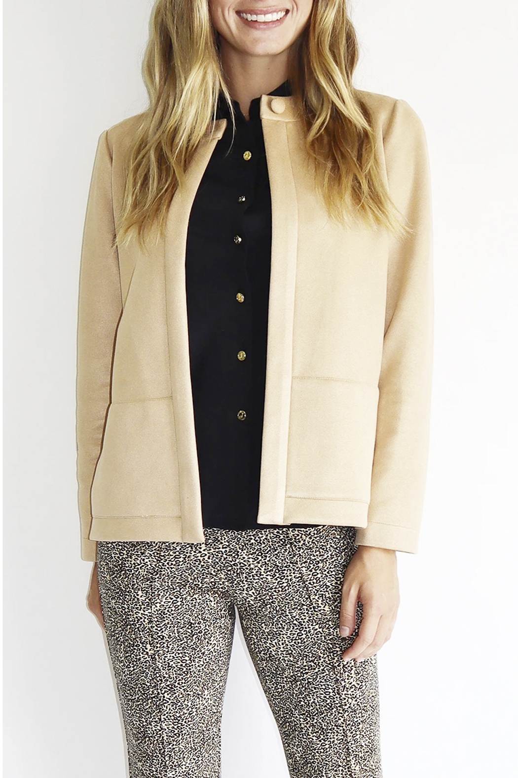 Jude Connally Clover Faux-Suede Jacket - Main Image
