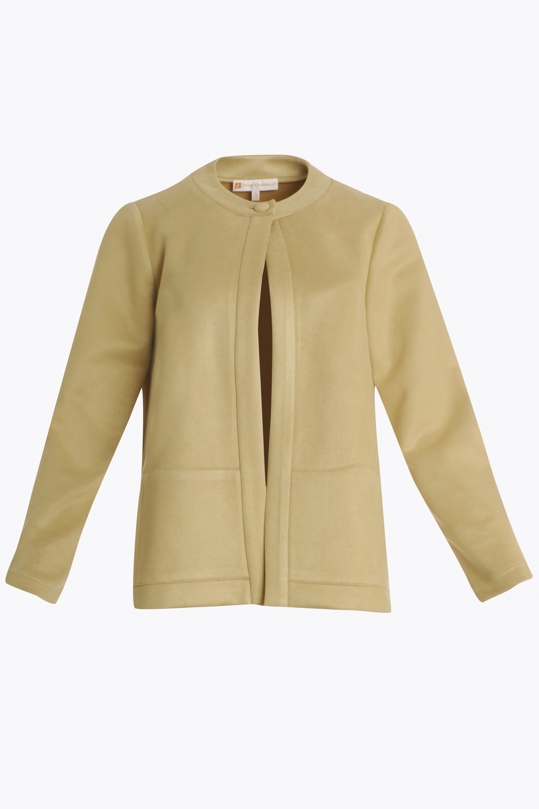 Jude Connally Clover Faux-Suede Jacket - Side Cropped Image