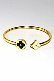 Italian Ice Clover Open Bangle - Product Mini Image