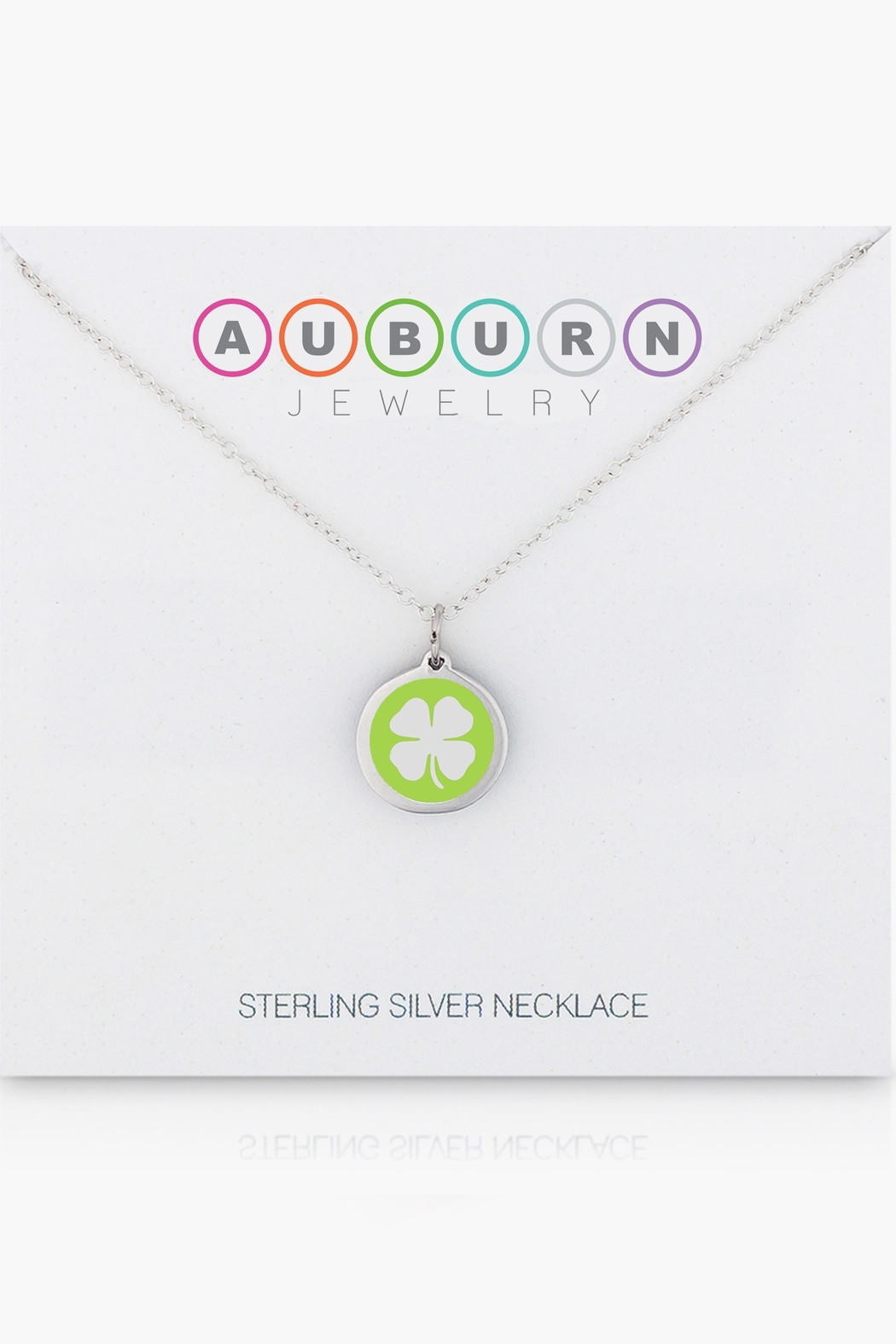 Auburn Jewelry Clover Silver Pendant - Mini - Back Cropped Image