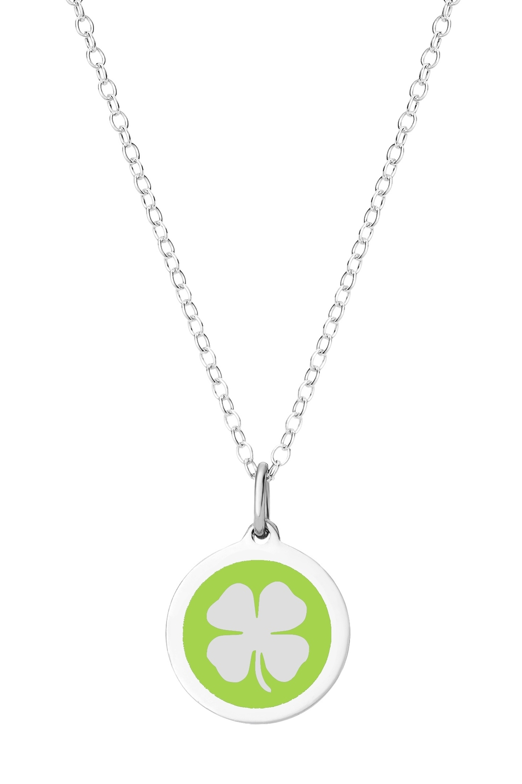 Auburn Jewelry Clover Silver Pendant - Mini - Front Cropped Image