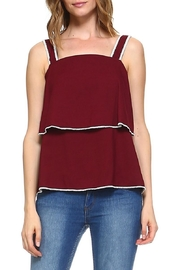 Cluce Burgundy Flutter Tank Top - Product Mini Image