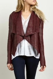 Cluce Distressed Wine Jacket - Product Mini Image
