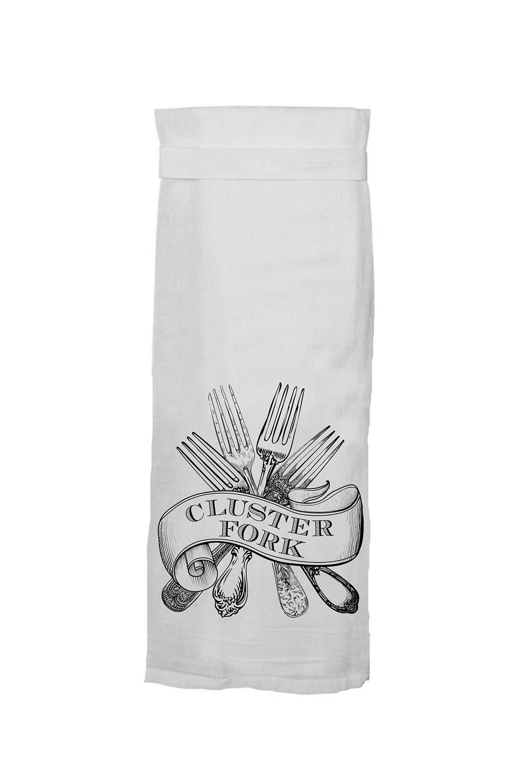 Twisted Wares™ Cluster Fork Towel - Front Cropped Image