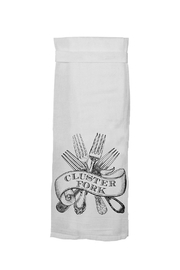 Twisted Wares™ Cluster Fork Towel - Front cropped