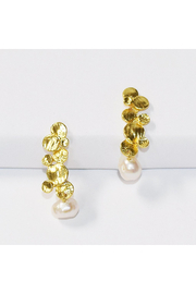 Karine Sultan CLUSTER/PEARL DROP EARRINGS - Product Mini Image