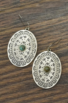 JChronicles Cncho With Natural-Turquoise-Stone-Earrings - Product List Image