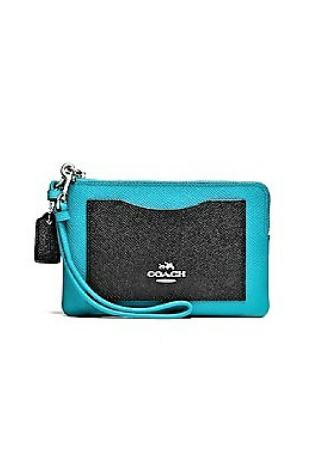 Coach Leather Corner-Zip Wristlet - Front Cropped Image