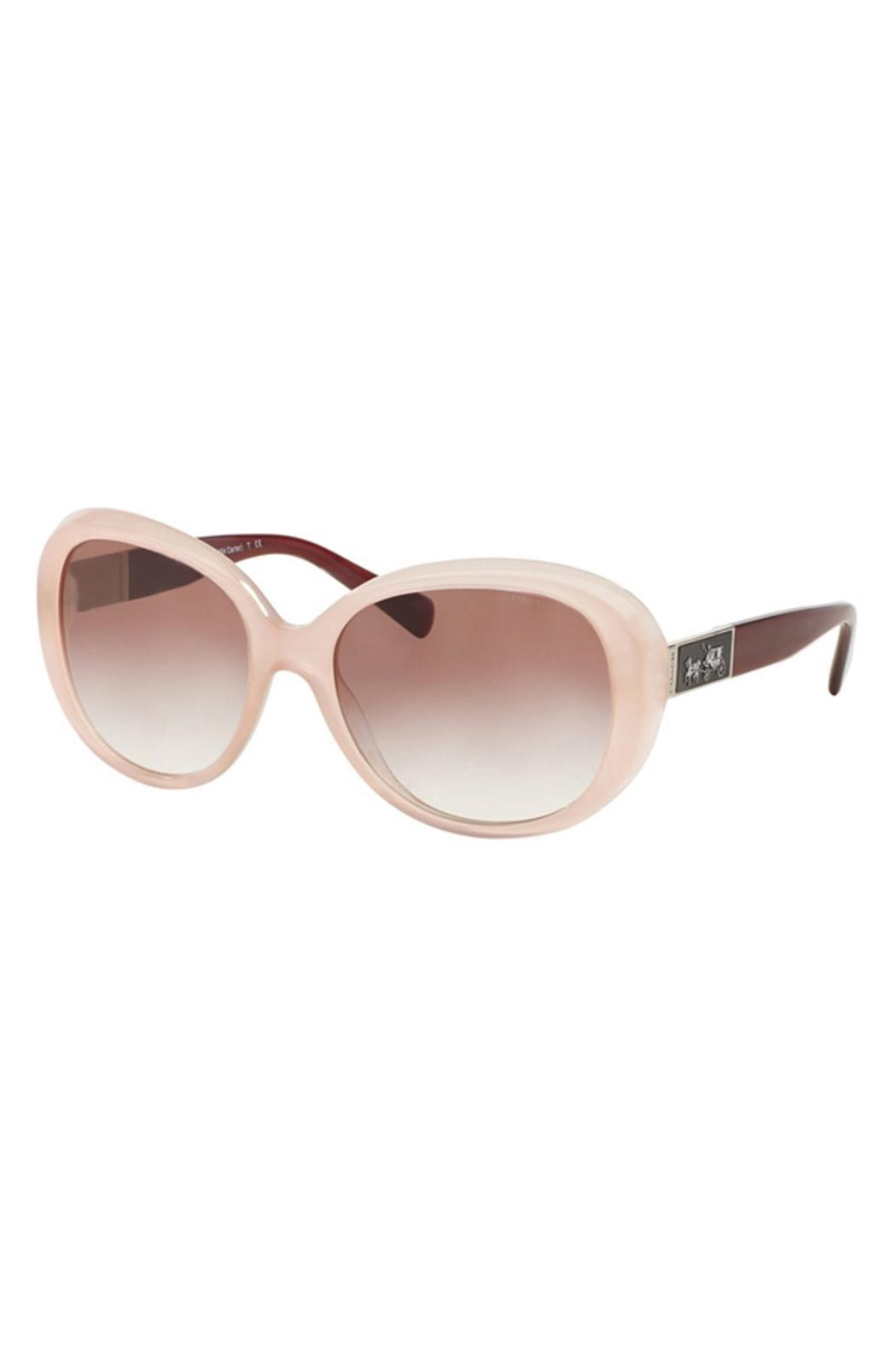 Pink Coach Sunglasses  coach pink oversized sunglasses from boston by soloptics tiques