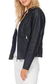Coalition Black Vegan Leather Jacket - Front full body