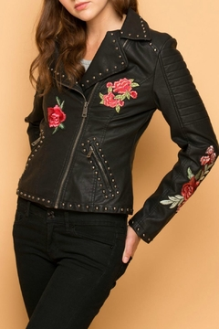 Shoptiques Product: Embroidered Faux Jacket