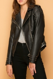 Coalition Faux Leather Jacket - Product Mini Image