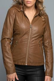 Coalition Faux Leather Jacket - Front cropped