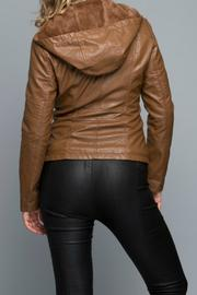 Coalition Faux Leather Jacket - Front full body