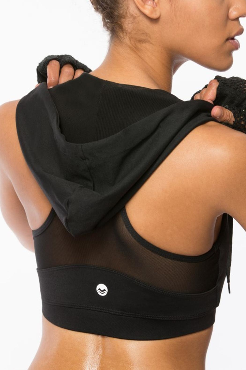 Coalition Hooded Sports Bra - Front Full Image