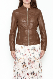 Coalition Leather Look Jacket - Front full body