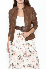 Coalition Leather Look Jacket - Front cropped