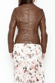 Coalition Leather Look Jacket - Back cropped
