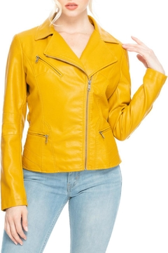 Coalition Mustard Moto Jacket - Product List Image
