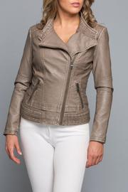 Coalition Vegan Leather Jacket - Front cropped