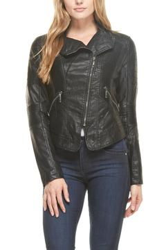 Shoptiques Product: Vegan-Leather Moto Jacket