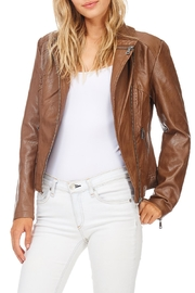 Coalition Downtown Moto Faux Leather Jacket - Side cropped