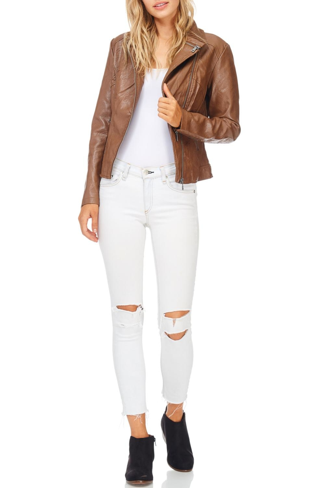 Coalition Downtown Moto Faux Leather Jacket - Main Image