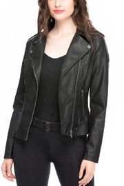 Coalition LA Black Leather Jacket - Product Mini Image